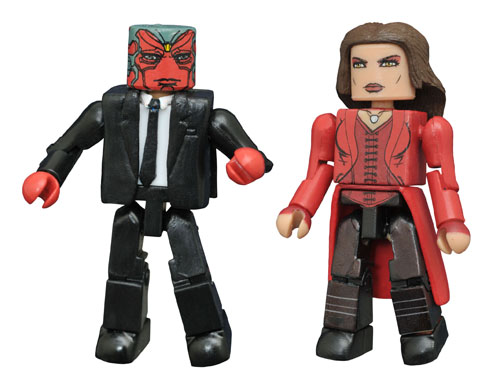 FEB168435 STL009989 MARVEL MINIMATES VISION SCARLET WITCH 2PK
