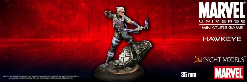 Knight Models Marvel Universe Miniature Game Hawkeye
