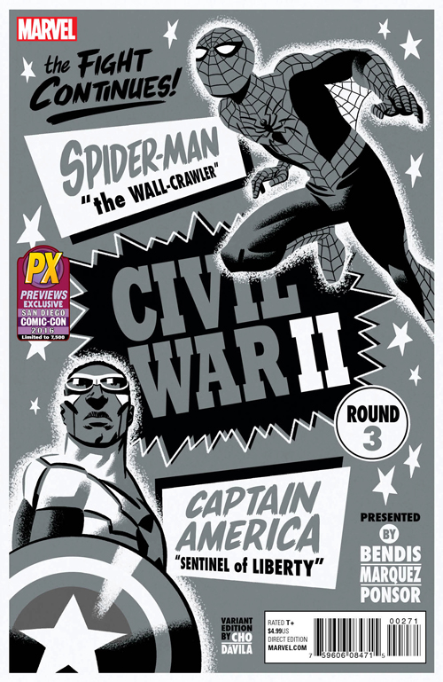 MAR161984 STL015184 CIVIL WAR II #3 CHO B&W VAR