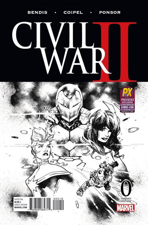 MAR169021 STL014742 CIVIL WAR II #0 COIPEL B&W VAR