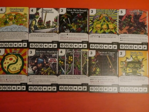 TMNT Dice Masters Basic Action Cards