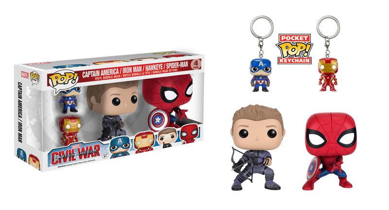 Pop! Marvel Captain America Iron Man Hawkeye Spider-Man