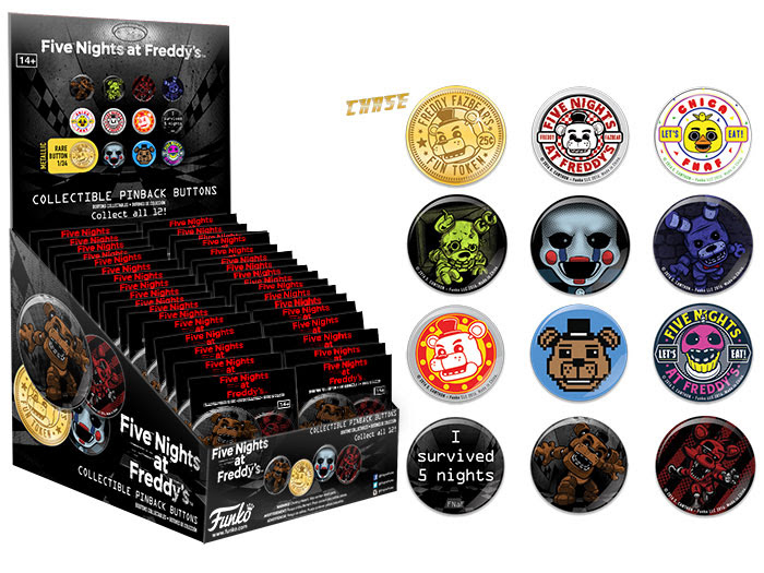 Buttons Five Nights At Freddy's