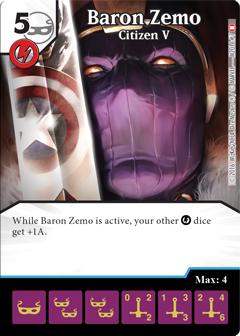 Dice Masters Baron Zemo OP