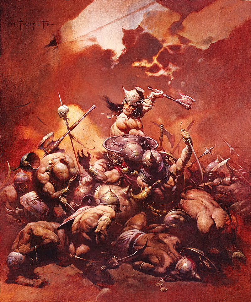 Frank Frazetta 'The Destroyer' Lithograph