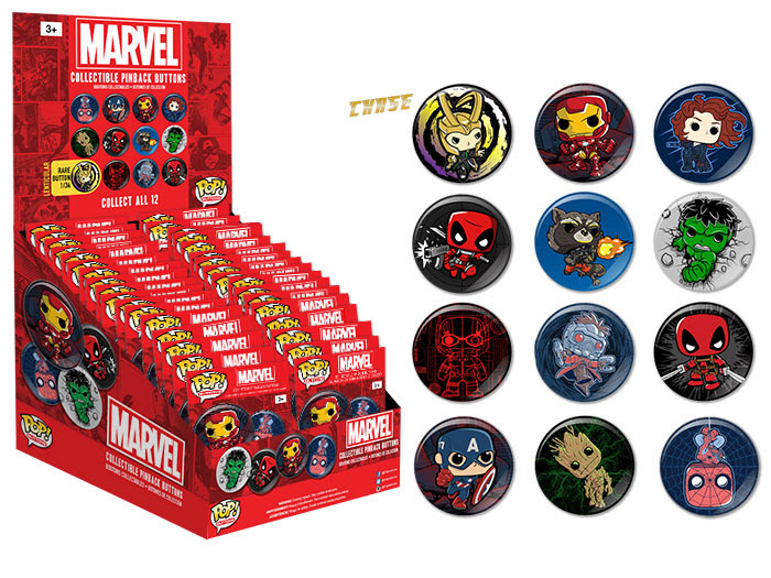 Pop! Buttons Marvel