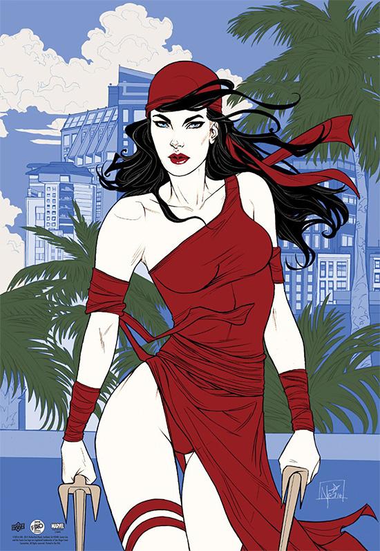 2016-Comic-Con-Upper-Deck-Gallery-Marvel-Elektra-Poster-Nei-Ruffino