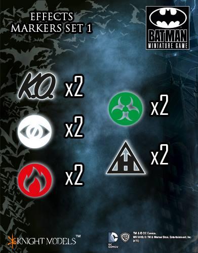 Batman Miniature Game Effects Markers