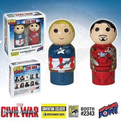 Exclusive Captain America vs. Iron Man Pin Mate Set 2