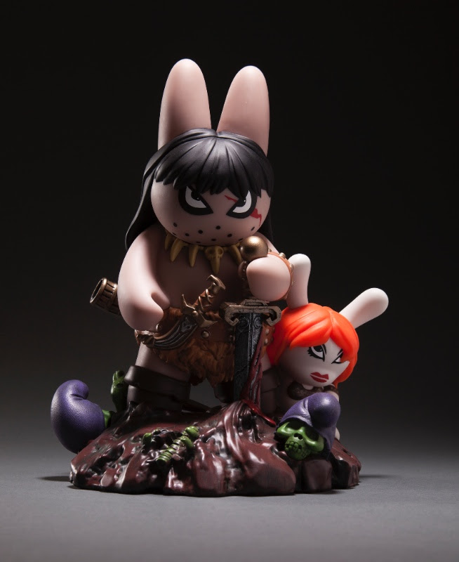 Frazetta x Kozik Labbit the Barbarian Pre-Release 1