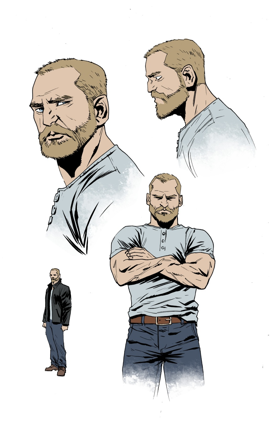 Kade Mercer Character Design by Jonas Scharf