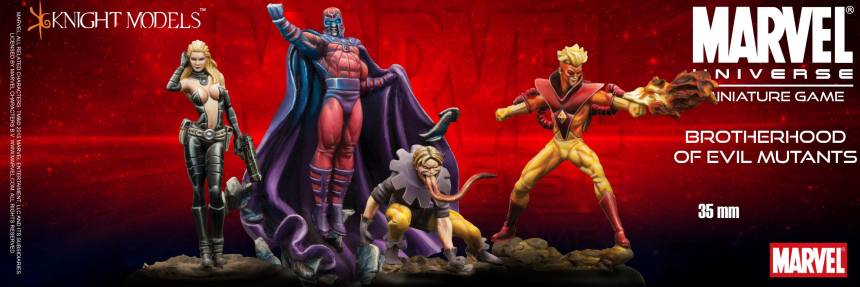 Marvel Universe Miniature Game Brotherhood of Evil Mutants