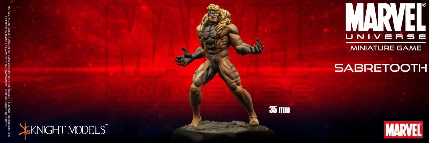 Marvel Universe Miniature Game Sabretooth