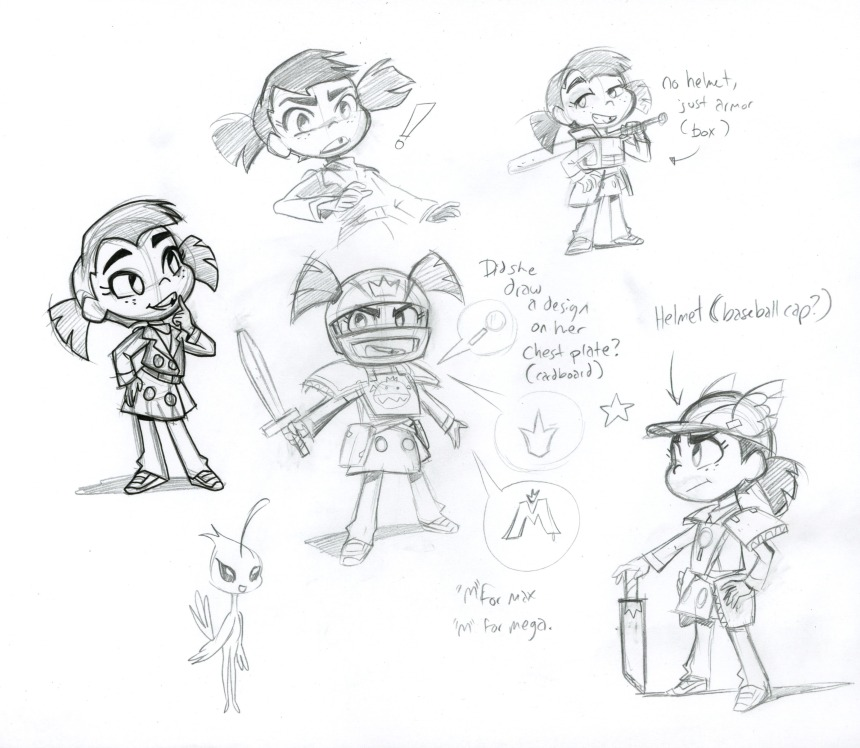 Max Character Designs by Brianne Drouhard