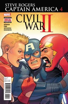 Captain America Steve Rogers #4 Cover