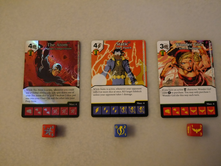 DC Dice Masters The Flash Green Arrow Atom Static Wonder Girl