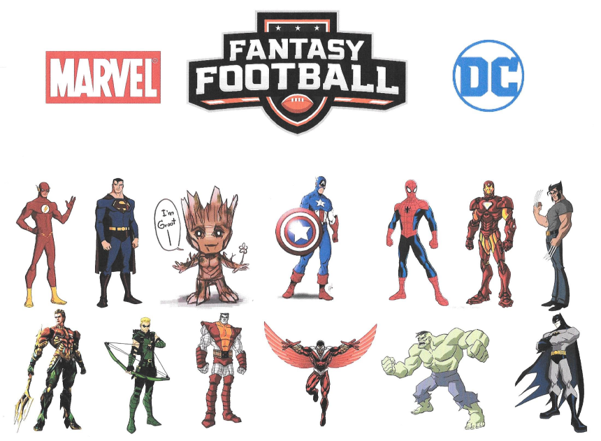 fantasy football marvel dc