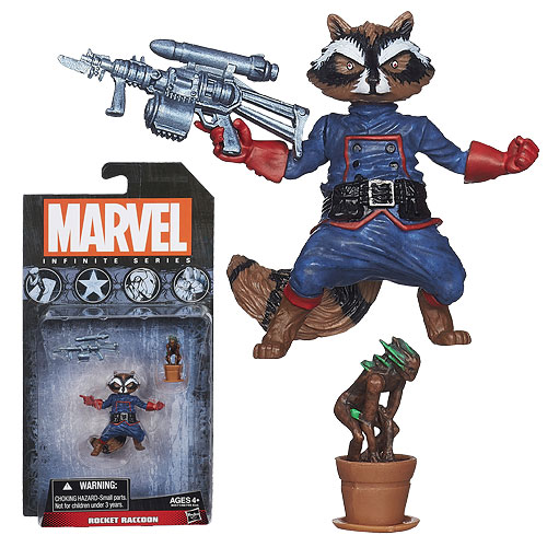 Marvel Infinite Series Rocket Raccoon 3 34-Inch Scale Action Figure with Baby Groot