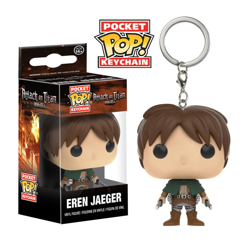 Pocket Pop Keychain Attack on Titan - Eren Jaeger