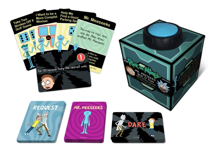 Rick and Morty Mr. Meeseeks' Box o' Fun Dice and Dares Game
