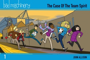 Bad Machinery Volume 1 Pocket Edition cover illustrated by John Allison