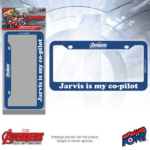 Jarvis is My Co-Pilot License Plate Frame