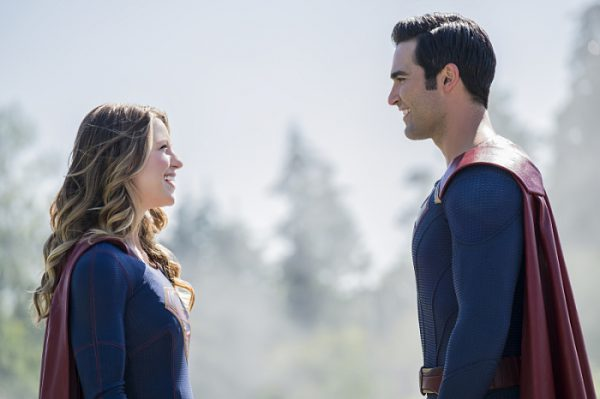 "Supergirl -- ""The Last Children of Krypton"" -- Image SPG202a_0016 -- Pictured (L-R): Melissa Benoist Kara/Supergirl and Tyler Hoechlin as Clark/Superman -- Photo: Robert Falconer/The CW -- © 2016 The CW Network, LLC. All Rights Reserved"