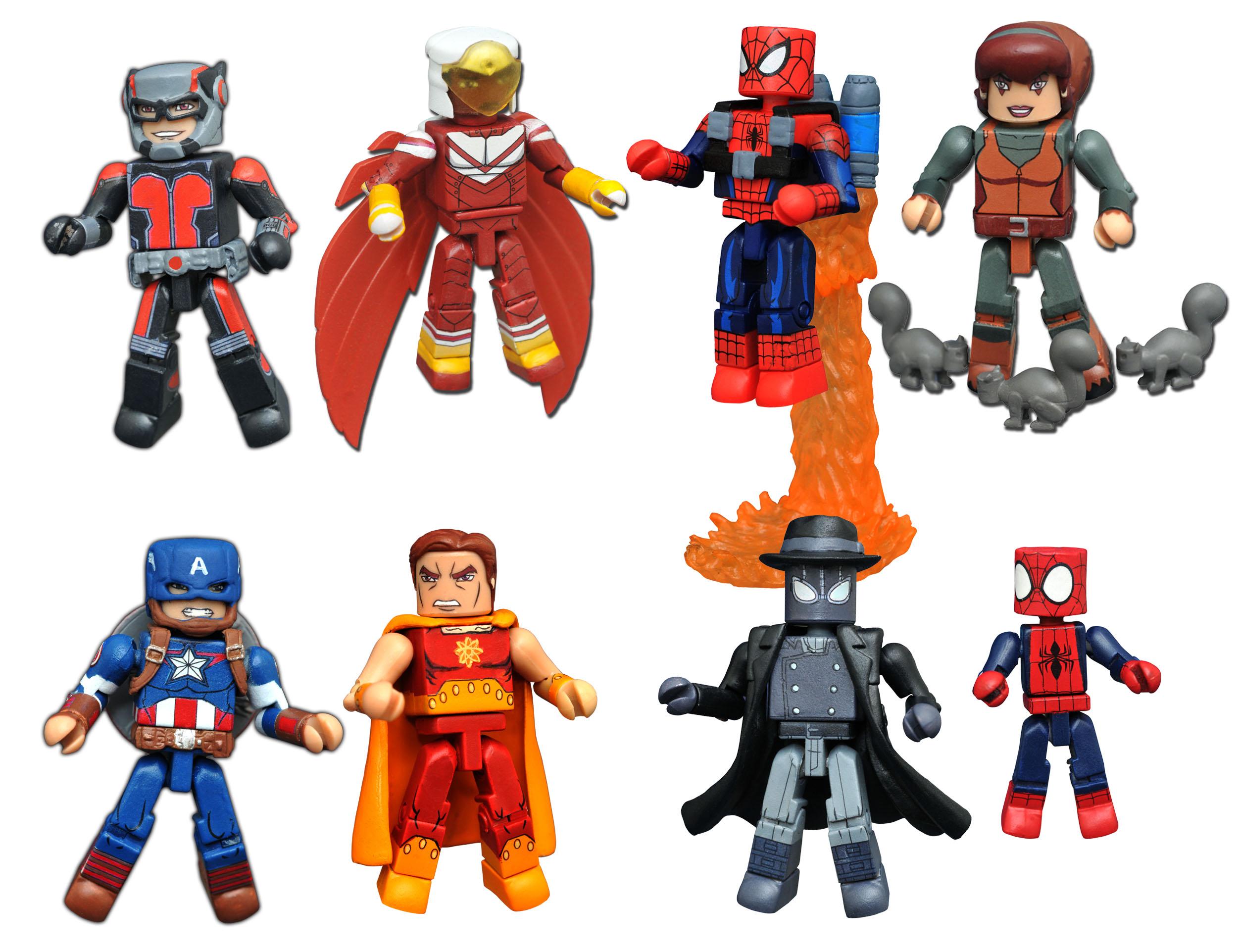 Marvel Minimates Walgreens Wave 3 Jet Pack Spider-Man /& Squirrel Girl
