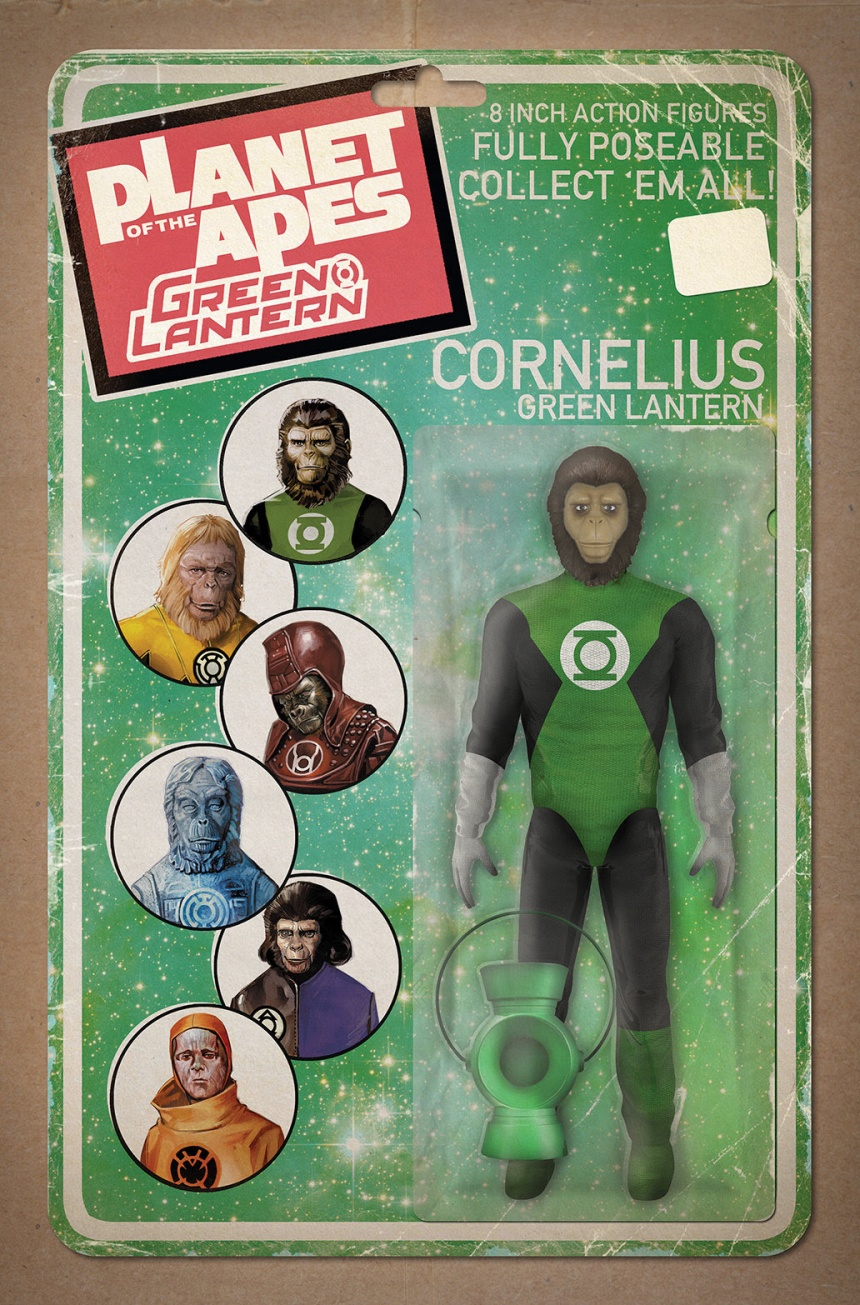 Planet of the Apes Green Lantern #1 Action Figure Variant Cover by David Ryan Robinson