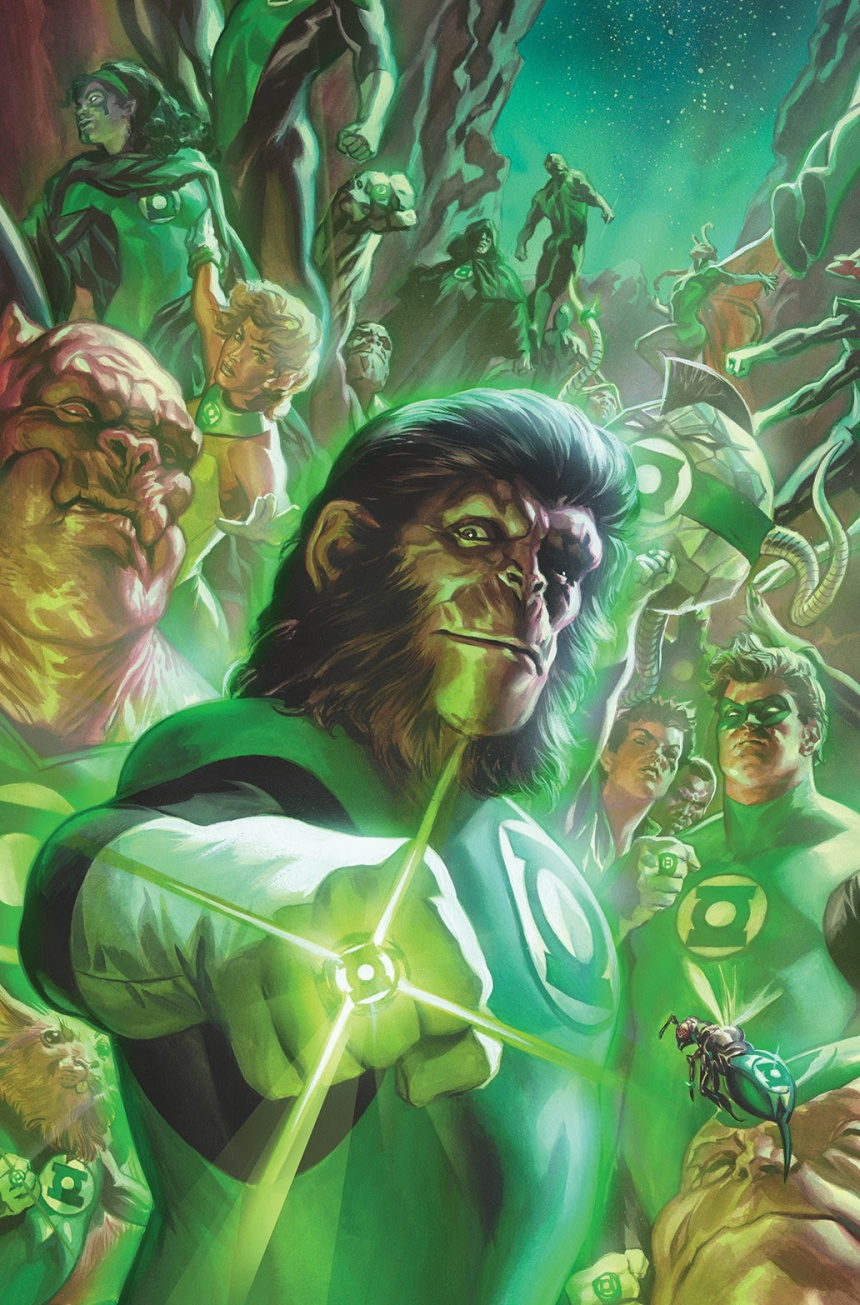 Planet of the Apes Green Lantern #1 Spectrum Foil Variant Cover by Felipe Massafera