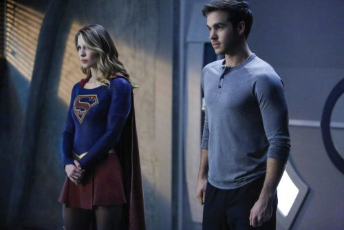"Supergirl -- ""We Can Be Heroes"" -- SPG210b_0278.jpg -- Pictured (L-R): Melissa Benoist as Kara/Supergirl and Chris Wood as Mike/Mon-El -- Photo: Bettina Strauss /The CW -- © 2017 The CW Network, LLC. All Rights Reserved"