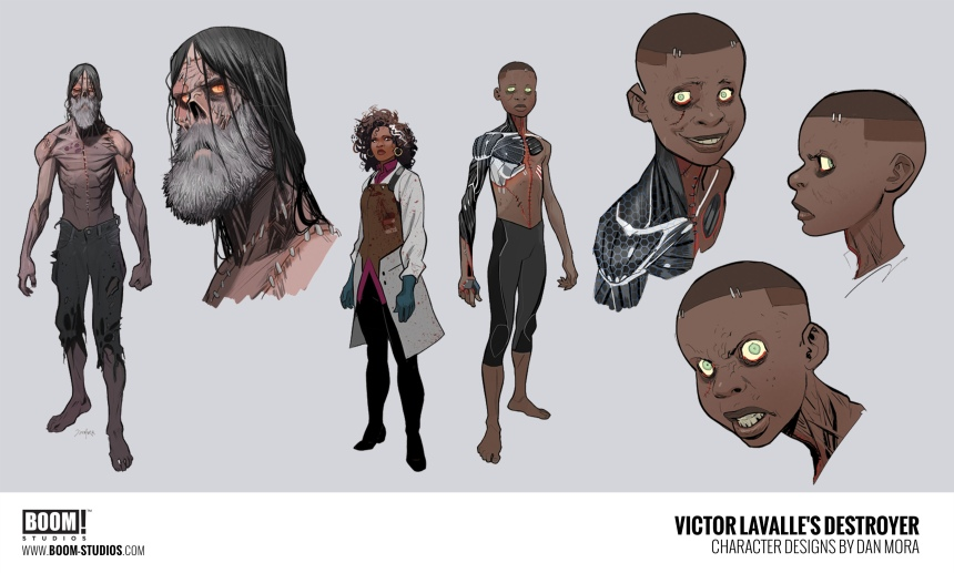 Character designs by Dan Mora