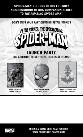 PeterParkerSpiderMan_LaunchParty_PostcardBack