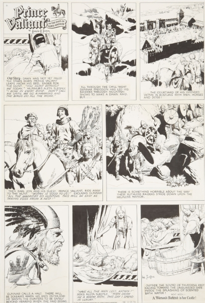 Hal Foster Prince Valiant 3-25-56