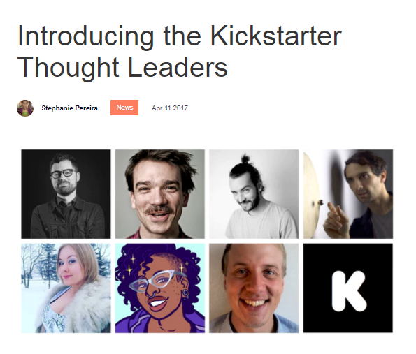 kickstarter thought leaders hope nicholson