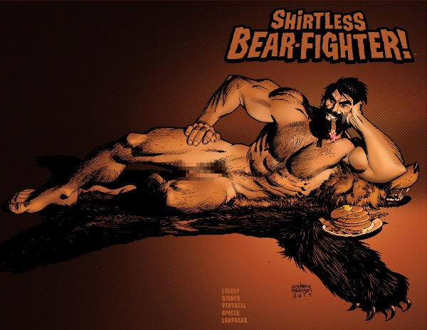 """Shirtless Bear-Fighter! Gets a """"Beariant"""" Cover"""